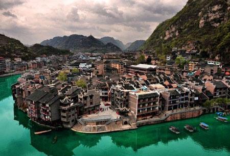 镇远古镇:古城酷似太极图图片