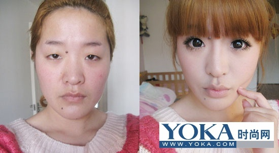 丑女如何化妆成美女_丑女化妆前后对比照_丑女ps前后对比照_丑女整容前后对比照_鹊桥吧