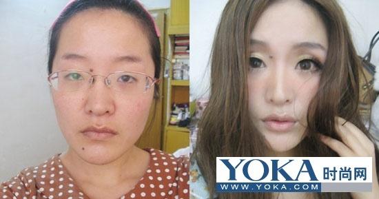 丑女化妆变美女 韩国丑女化妆变美女