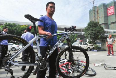 图为失主丢失的自行车之一,也是被盗自行车中价格最高的一辆。