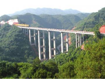 黔纳高速上马大桥。(川高公司供图)
