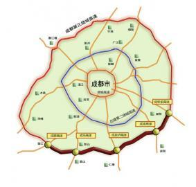成都第三绕城高速简阳至蒲江段(本版制图杨仕成)