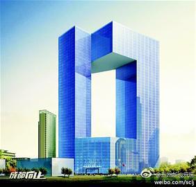 网友微博发布的锦江宾馆新楼效果图