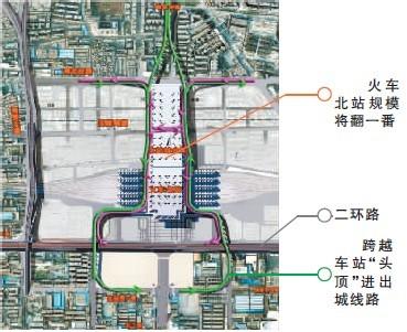 青岛市火车北站道路规划图