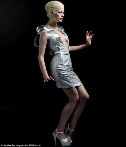 衣服可感应人的心跳,并变成透明色。