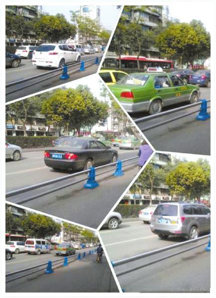 """私家车占用公交车道,微博网友""""成都公交哥""""晒出组图。"""