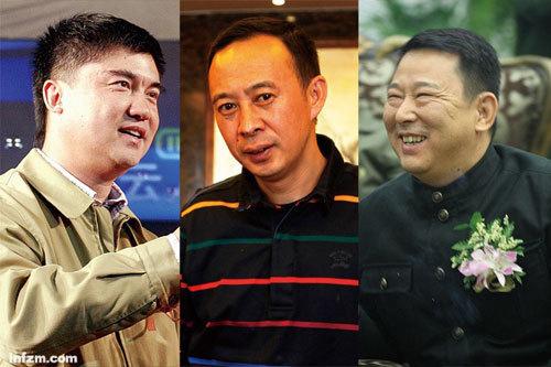 邓鸿(左)、汪俊林(中)、刘汉(右)等四川富豪近期被卷入反腐旋涡。(CFP/图)