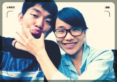 唐瑜、张礼锴甜蜜照。(图片由受访者提供)