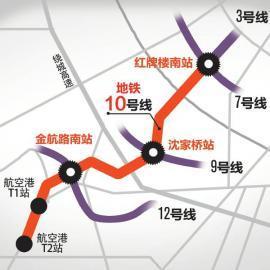 地铁10号线示意图。 制图姜宣凭