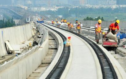 7月28日,建设中的成灌铁路彭州支线。摄影张磊