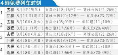 重庆-都江堰周末动车明起开跑