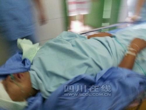 伤者被送往医院