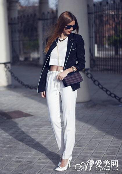 西裤or西裙演绎ol风尚