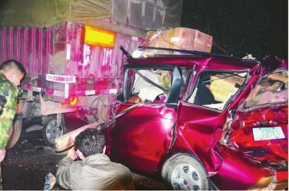 车祸现场。(图据网络)