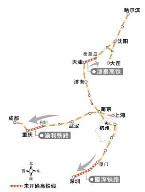 渝利铁路试跑 成都到沪、汉、杭动车年底打通