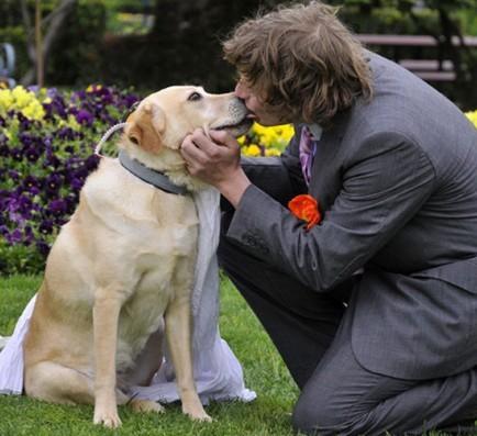 澳大利亚男子与狗结婚(资料图)