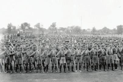 当年,童子军队伍声势浩大。