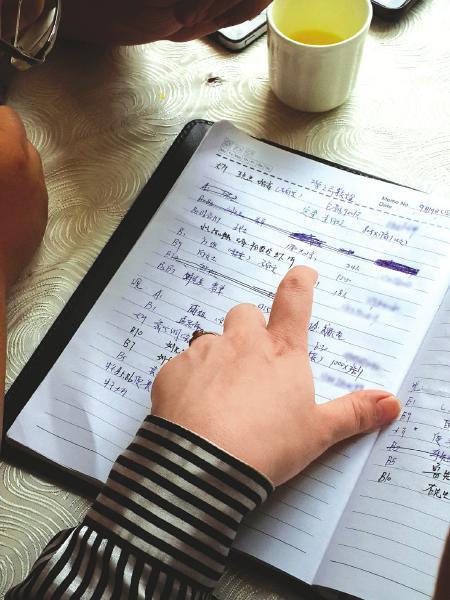 柳源酒店经理拿出日记本介绍当天餐厅的接待情况。(资料图片)