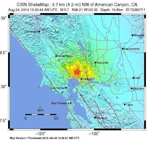 美国加利福尼亚州坎宁附近6.0级地震(图)_新浪四川