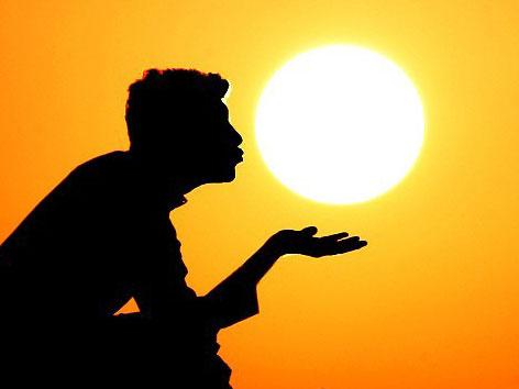 与太阳有趣的合影